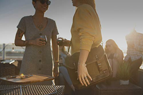 LEGACY - a Picnic Time Brand Adventure 2 Bottle Wine Tote Bag, Khaki Green/Brown