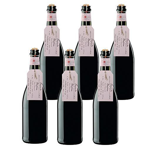 FIOCCO DI VITE Piemonte Doc Barbera Frizzante Fiocco Di Vite Rosso Vino Frizzante - 6 Bottiglie - 6x75cl
