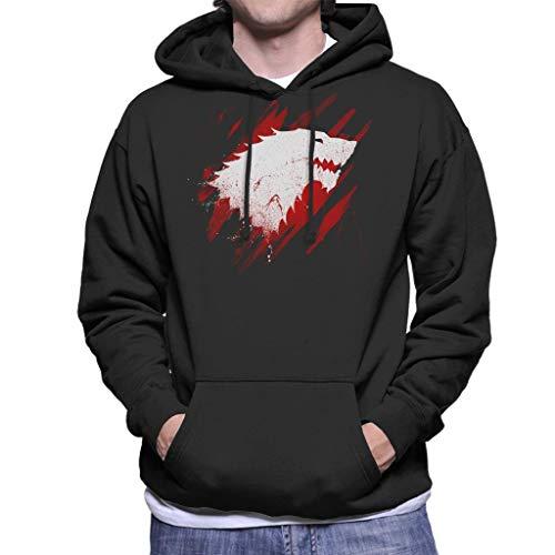 Game of Thrones Stark Wolf Blood Men's Hooded Sweatshirt