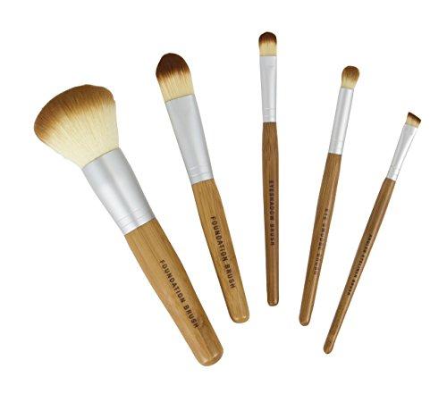 Bamboo Naturals Makeup Brushes, Natural Bamboo...