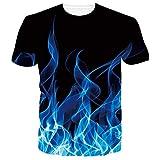 RAISEVERN 3D T-Shirt pour Hommes Femmes D'été Casual Tees À Manches Courtes avec Drôle...