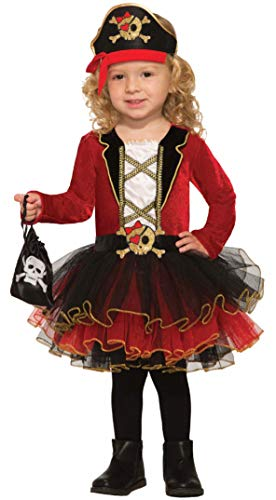 Forum Novelties Baby Deluxe Pirate Girl Costume, As Shown, Toddler