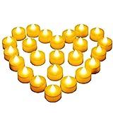 Diyife 24 Bougies à LED, Bougies Chauffe-Plat sans Flamme, Décoration de...