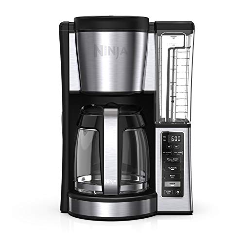 Ninja CE251 Programmable Brewer, with 12-cup Glass Carafe, Black and Stainless Steel Finish