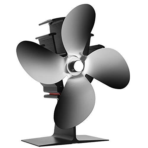 CXhome Kaminventilator, mit 4 Blättern, 40℃...