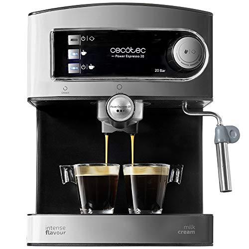 Cecotec Cafetera Express Manual Power Espresso 20. 850W, Presión 20 Bares, Depósito de...