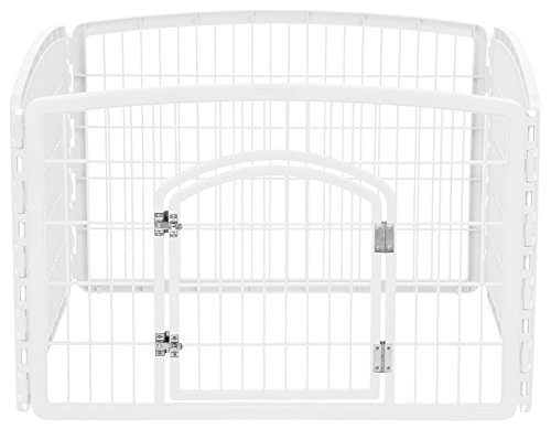 IRIS USA 4-Panel Pet Playpen with Door, Size...