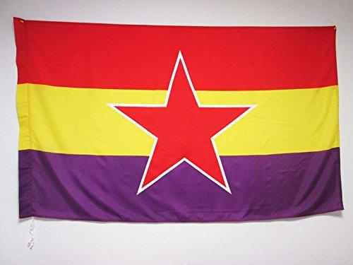AZ FLAG Bandera ESPAÑA Republicana Estrella del EJÉRCITO P