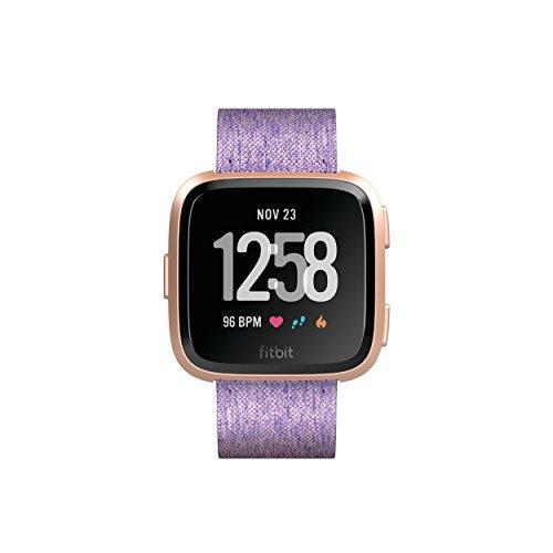 Fitbit Versa Special Edition Gesundheits und Fitness Smartwatch, mit Herzfrequenzmessung, 4+ Tage Akkulaufzeit und Wasserabweisend bis 50 m Tiefe, Lavendel