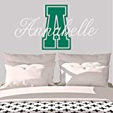 Girl's Custom Name And Initial Wall Decal, Choose Your Own Name, Initial And Letter Styles, Multiple Sizes, Girl's Name Wall Decal, Baby Wall Stickers For Girls, Girl's Name, Nursery Wall Decal