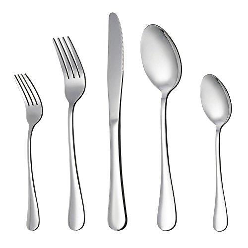 LIANYU 20-Piece Silverware Flatware Cutlery Set, Stainless Steel...