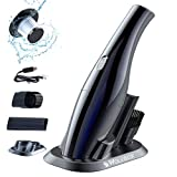 WOLFBOX Handheld Vacuum Cleaner Cordless, Mini Vacuum Rechargeable,Portable Vacuum Cleaner for Car Home Office Kitchen Pet Hair Dust Gravel Cleaning,Vac Black