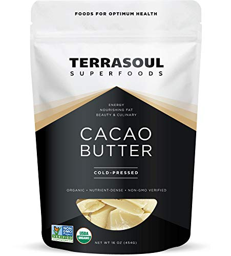 Terrasoul Superfoods Organic Cacao Butter, 1 Lb - Raw | Keto | Vegan | Unrefined