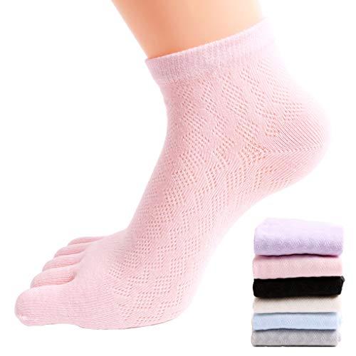 FULLANT 6 paia da donna cinque dita dei piedi calzini misto cotone morbido casual sport maglia calze