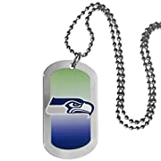 """Officially licensed product licensee: Siskiyou buckle 26"""" ball chain with ball and joint clasp Classic dog tag style necklace Colorful Gradient print background on a high polish tag with team logo Perfect accessory for any fan"""