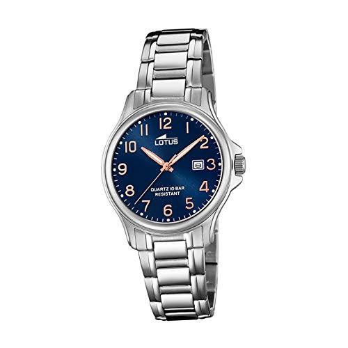 Lotus Damen Analog Quarz Uhr mit Edelstahl Armband 18655/2