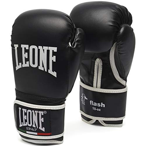 Leone 1947 Guantes de boxeo, modelo Flash negro negro Talla:14 Oz