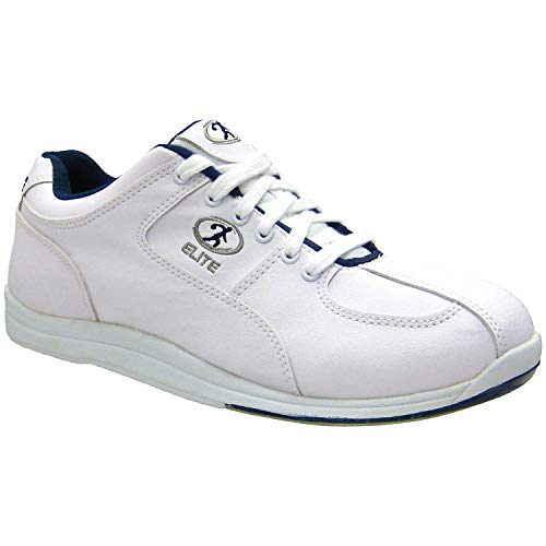 Elite Atlas Blue Mens Bowling Shoes - Quality & Comfortable - Universal Slide Sole for Left & Right Handed Bowlers (Size 10)