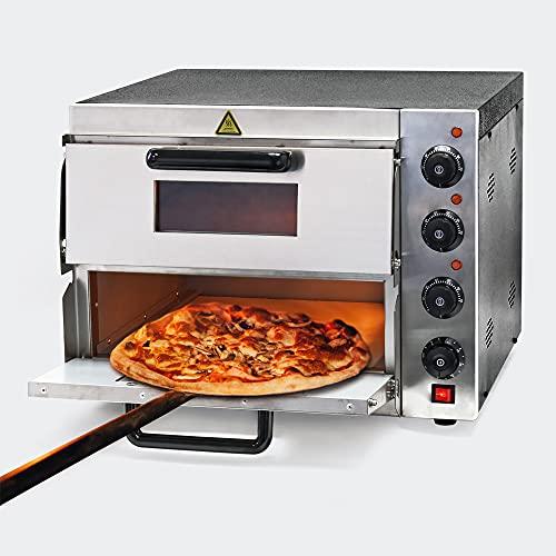 WilTec Four à Pizza électrique 2 Étages 3000W avec Pierre réfractaire Alimentaire Régualtion de température