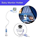 Universal Baby Monitor Wall Mount, Infant Baby Camera Holder, Baby Monitor Shelf, Baby Camera Stand for Crib Nursery Compatible with Most Baby Monitors