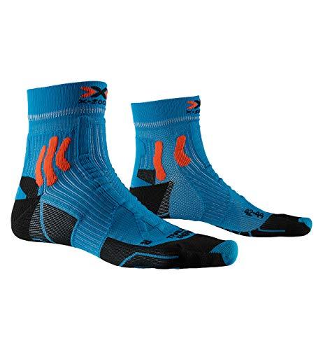 X-Socks Trail Run Energy, Calzini da Corsa Unisex-Adulto, Teal Blue/Sunset Orange, 42-44