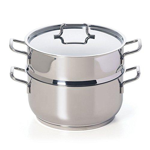 Excelsa Cooking Light Plus Vaporiera 2 Ripiani, Alluminio pressofuso, Argento