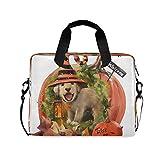 BGIFT - Funda para portátil para hombre y mujer, diseño de calabaza, para Halloween, perro, 15,6, 13, 14, 16 pulgadas, maletín con asa para hombro, portátil, tablet, para niños