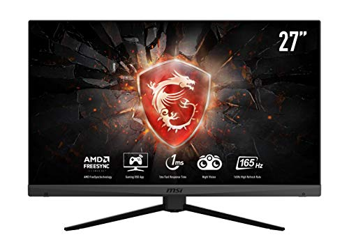 MSI Optix MAG272 Monitor Gaming 27', Display 16:9 FHD (1920x1080), Frequenza 165Hz, Tempo di risposta 1ms, Pannello VA, AMD FreeSync