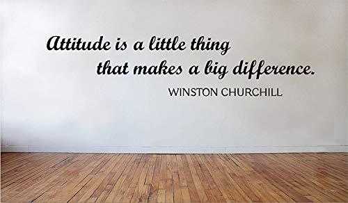 L'atteggiamento una piccola cosa che fa una grande differenza Winston Church.