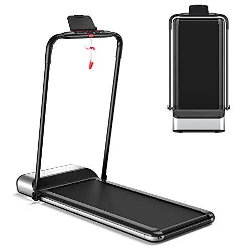 GOPLUS Ultra-Thin Electric Folding Treadmill, Installation-Free Design, Low Noise, Walking Jogg…
