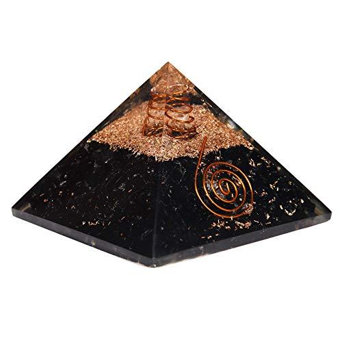 Orgonita de turmalina negra extragrande, 70 – 75 mm, gema Orgone, pirámide XL