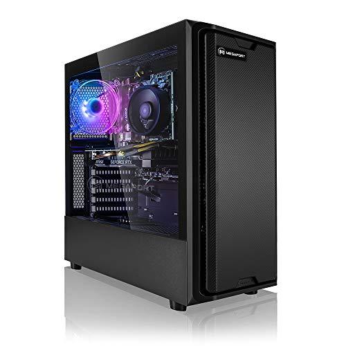Megaport PC Gamer Falcon AMD Ryzen 7 3700X 8X 3,60 GHz • nvidia GeForce RTX3060 12Go • 16Go 3000 MHz DDR4 • 1 to M.2 SSD • Windows 10 • WiFi • USB3.0 Unité Centrale Ordinateur de Bureau