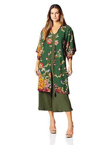 Quimono, mercatto, feminino, verde escuro, p