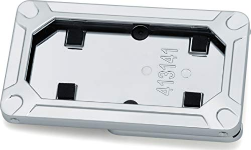Kuryakyn 3141 Motorcycle Accent Accessory: Nova Side Mount License Plate Frame for 2018-19 Harley-Davidson Motorcycles, Chrome