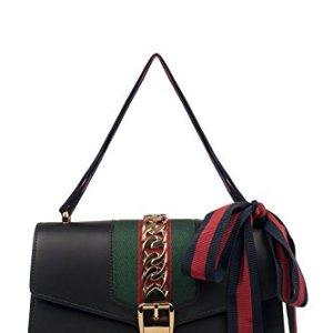 Gucci Women's 421882CVLEG8638 Black Leather Handbag 30