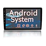Binize Android car Stereo 10.1 inch Double din with GPS Navigation for Touch Screen car Radio Support WiFi Connect Mirror Link for Android/iOS Phone Dual USB Input FM Bluetooth Backup Camera