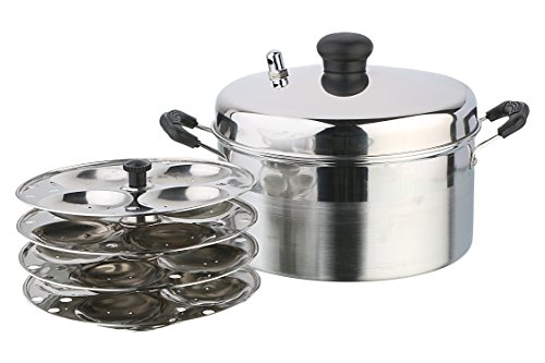 Pristine Stainless Steel Idly Cooker, 21 cm/4 Plates