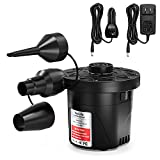 VacLife Air Pump, Electric Air Pump for Inflatable Couch & Cushion, Air Mattress Pump for Swimming Ring, Portable Air Pump for Outdoor Camping, Dual-Use Deflator & Inflator Pump with 3 Nozzles (VL714)