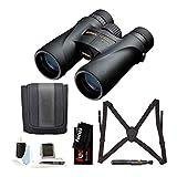 Nikon 7576 Monarch 5 8x42 Waterproof/Fogproof Roof Prism Binoculars Bundle with Lens Cleaning Brush & Essential Accessories (5 Items)