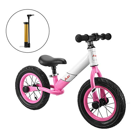 AODI Kids Balance Bike, No Pedal Toddler Bike with Adjustable Seat Bike, Toddler Walking Bicycle for Ages 18 Months to 5 Years 12 Inch Inflatable Wheels