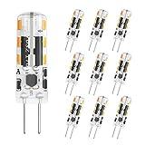 DiCUNO Bombilla LED G4, 10 × 1.2W 24 * 3014 equivalente a la lámpara halógena...