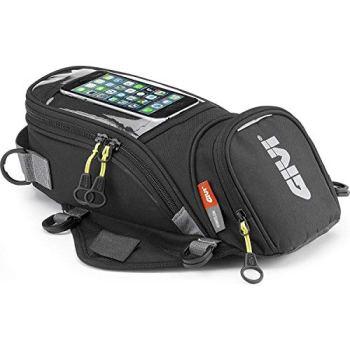 GIVI EA106B Easy Bag Bolso Magnético Depósito, Volumen 6 litros, Carga Máxima 2 Kg, Negro