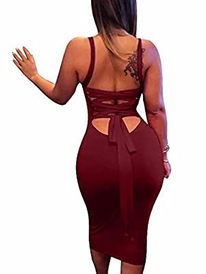 Material:Polyester and Spandex It will show your identity, your beauty, your style! String can be adjustable and Stretch fabric Size:S=USA 4-6;M=8-10;L=12-14;XL=14-16 Suitable for Party Cocktail Club