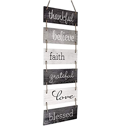 Excello Global Products Large Hanging Wall Sign: Rustic Wooden...