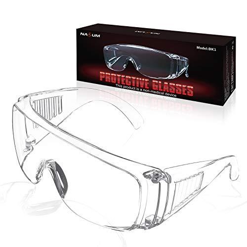 NASUM Plegable Gafas Protectoras, Gafas de Seguridad, Gafas