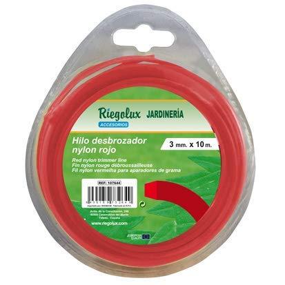 Riegolux 107663 Filo per decespugliatore Quadrato in Nylon, Giallo, 1,6 mm x 25 m