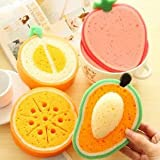 NEVUTO- b971 thickened fruit spon scouring wholesale strong ontamination wipes a dish cloth vetables fruit lemon absorbent turkish transfers grip coffee green