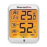 ThermoPro TP53 Hygromètre Indicateur D'humidité Intérieur Jauges de...