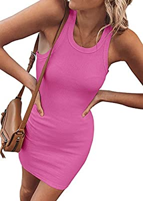 Made of nice quality fabric, this dress is comfy and soft, stretchy fit for any body shape and comfortable to wear This dress is casual and simple, many available solid color, slim fit but stretchy, round neck, ribbed knit material, attractive and co...