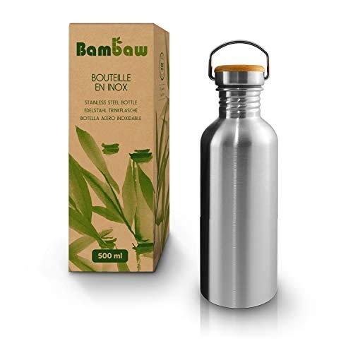 Gourde 500 ml | Gourde écologique | Gourde inox | Gourde sport | Gourde acier inoxydable | Gourde sans BPA | Bouteille | Bouteille inox | Bouteille sans BPA | Gourde Infusion Inox |Bambaw